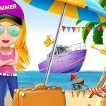 Girl Summer Vacation Beach Dress up