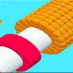 Slice peeler corn