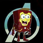 spongebob iron man